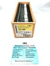 Siemens Q1515 15a 15a 120v 1p Tandem Circuit Breaker New Box Of 12