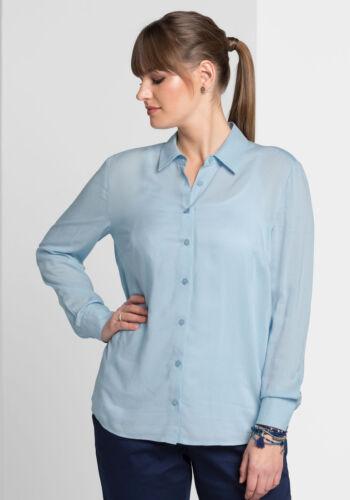 Sheego Style Camicia Blusa NUOVO!! Kp 49,99 € SALE/%/%/% pastellblau
