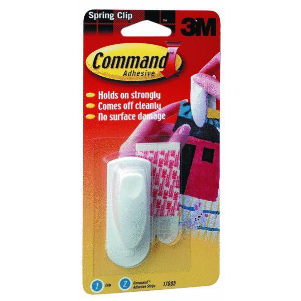 36 Pk 3M Weiß Command Papier Message Holder Spring Adhesive Clip 17005