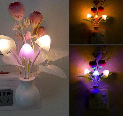 NEW Romantic Colorful LED Mushroom Night Light Lamp Home Illumination WOC A