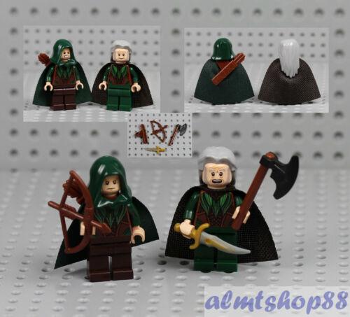 LEGO Hobbit Archer Castle LotR 79012 Series 2x Mirkwood Elf Minifigure Combo