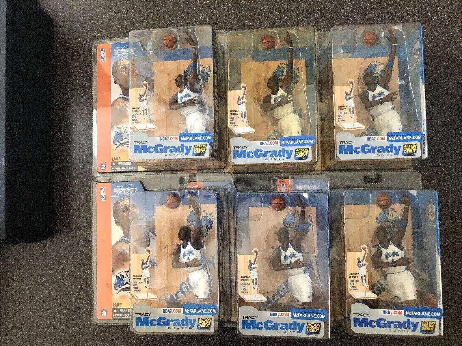 Lot Of 6 TRACY McGRADY, {RARE} MCFARLANE  NBA SERIES   2, EXCELLENT CONDITION  negozio di vendita outlet
