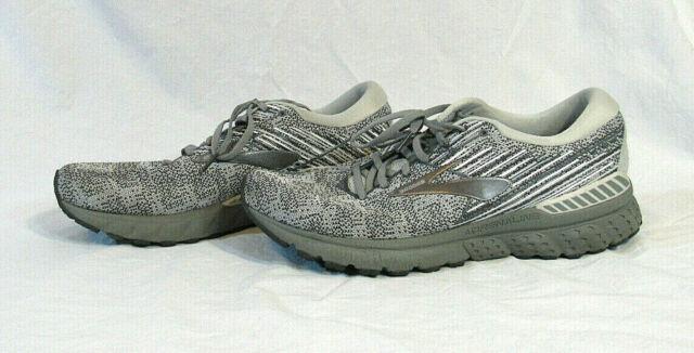 Brooks Men's Gray Adrenaline Gts 19 Running Shoe 1102941D126 Size 11.5 M n-mint