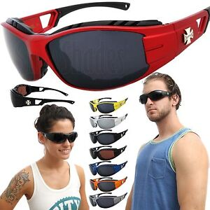 Chopper Wind Resistant Pad Extreme Sports Sunglasses Motorcycle Riding Glasses