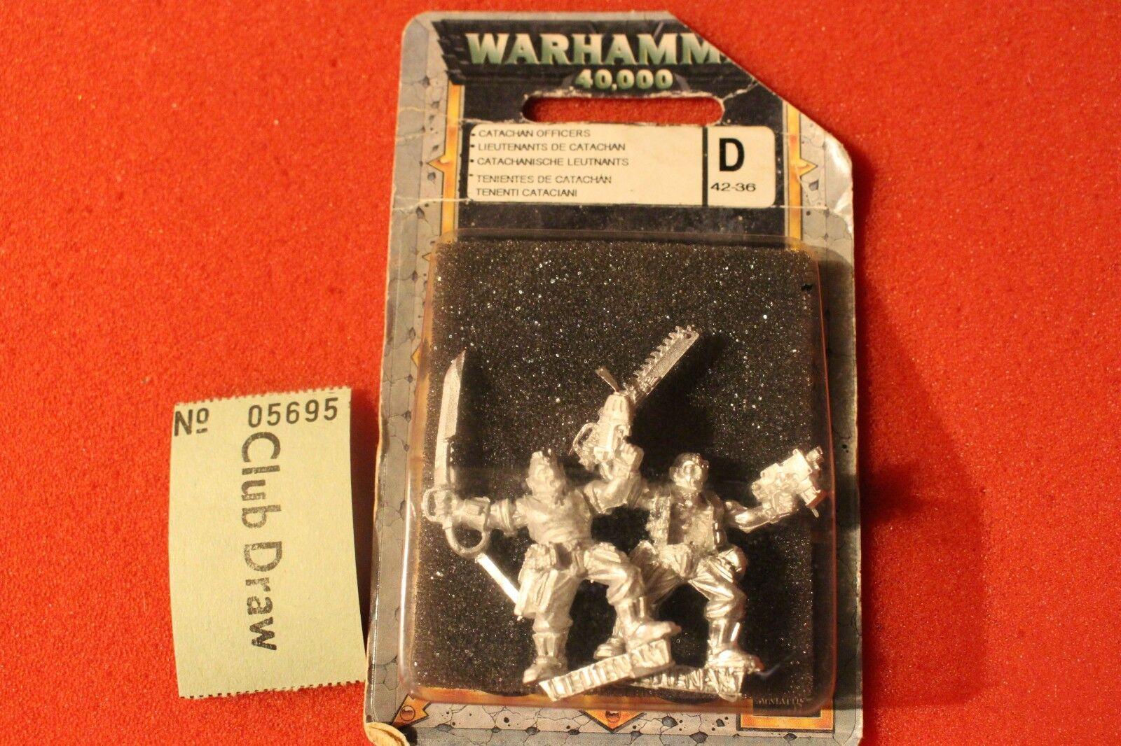 Games Workshop Warhammer 40k Catachan officiers lieutenants sergents Métal Nouveau C