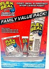 Flex Seal Family Value Pack Includes Flex Cleartape Clearamp Flex Glue Clear New