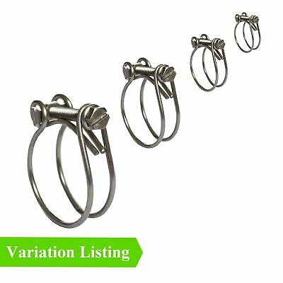 40mm Double Wire Hose Clips Fuel Water Jubilee Strong Radiator Inlet X 4