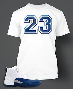 T shirt to match air jordan 12 french blue shoe on pro for French blue t shirt