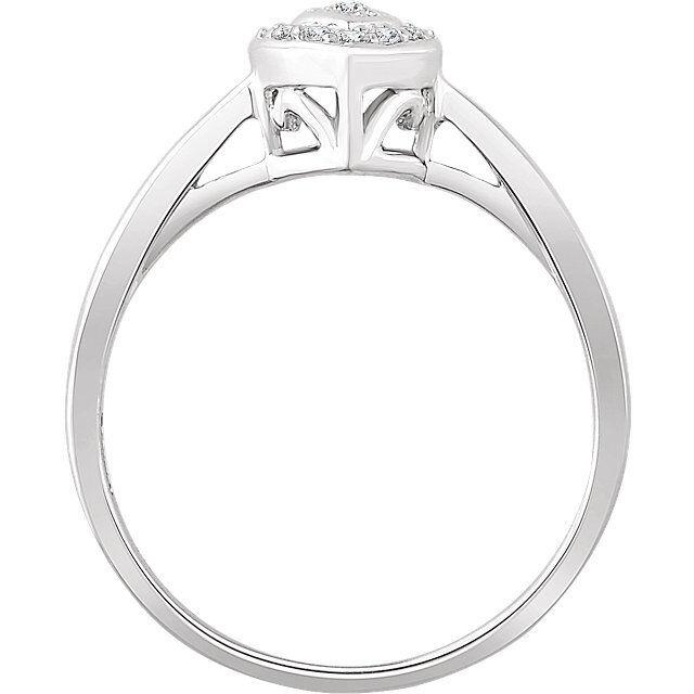 Diamante Halo-Style Cuore Anello di Promessa in 10K oro Bianco Bianco Bianco 08 Ct. Tw 5a19cb