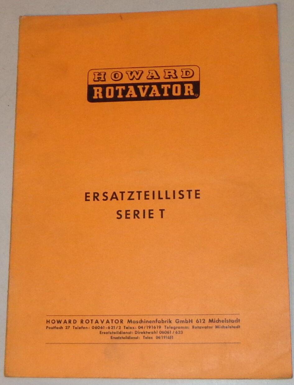 Howard Fräse Rotavator Serie  P mit  Wechselgetriebe   Ersatzteilliste