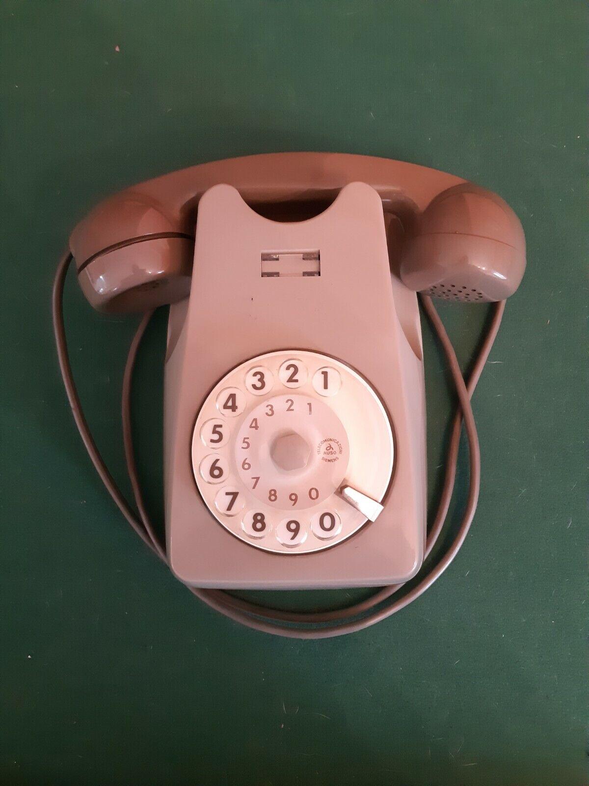 Telefono Vintage Sip anni 70 80 a disco rotella Verde ghiera fisso Funzionante
