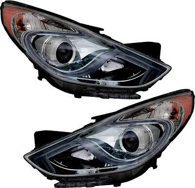 Headlights Headlight Embly Pair Set For 2017 Hyundai Sonata Hybrid