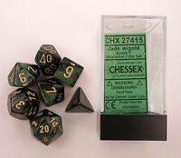 Chessex Scarab Jade 7 piece dice set Toys