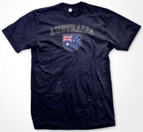 Mens T-shirt Australia Country Crest Flag Colors Nationality Ethnic Pride