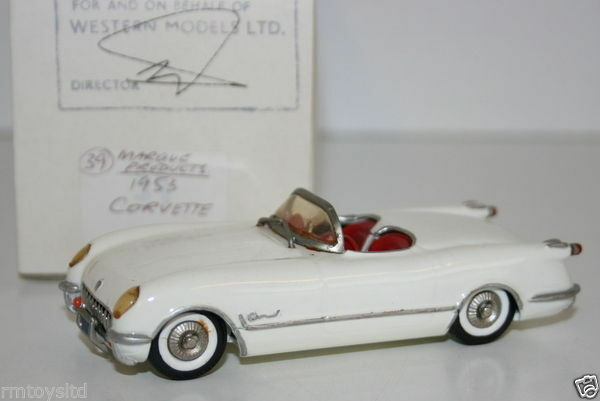 WESTERN ModelllS MIKE STEPHENS 1st PROTOTYPE Modelll - MARQUE PRODUCTS 1953 CORVETTE