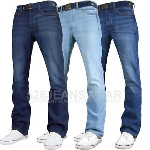 Smith-amp-Jones-Men-039-s-Wide-Leg-Flare-Bootcut-Jeans-King-Big-All-Waist-Sizes
