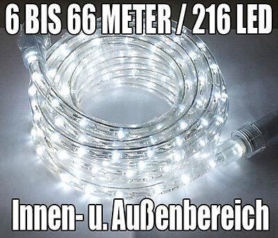 6 Meter LED Lichtschlauch Lichterschlauch Lichterkette Leuchtschlauch weiß neu