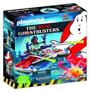 Playset-ZEDDEMORE-con-ACQUA-SCOOTER-da-THE-REAL-GHOSTBUSTERS-Playmobil-9387