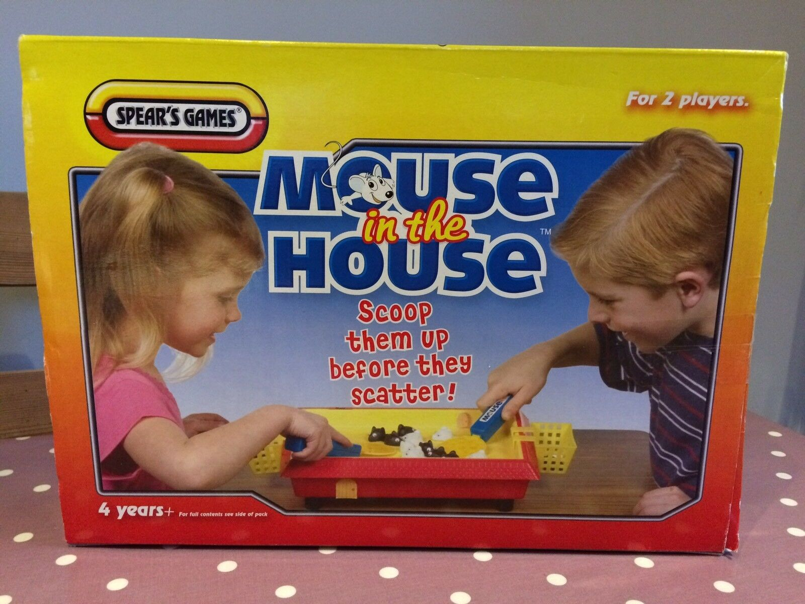 Rare Vintage Spear's Games Mouse In The House - Scoop Them Up 4+
