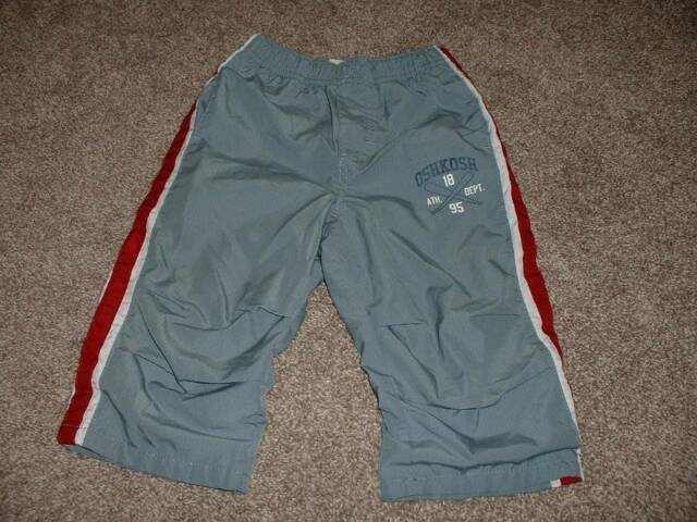 OshKosh B'Gosh Baby Boys Gray Athletic Track Pants Lined Size 18 mos 18M 12-18 m