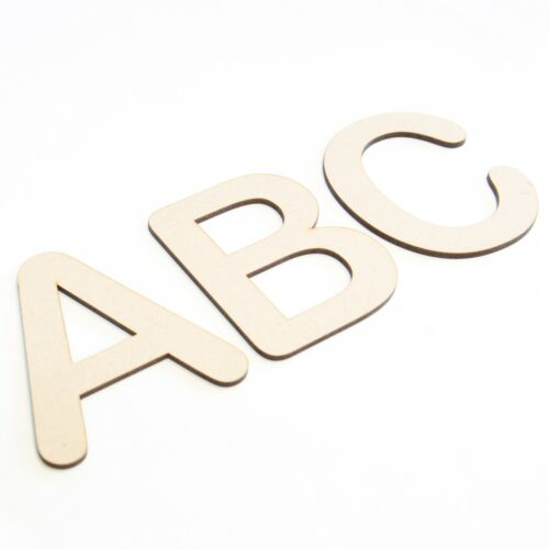 Arial Rounded Wooden Letters /& Numbers Wood Alphabet Letters /& Numbers 3mm MDF