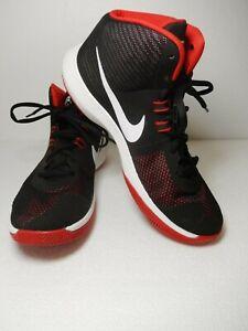 6d256b944d3 NEW  Mens Nike Air Precision NBK Black White University Red 898452 ...