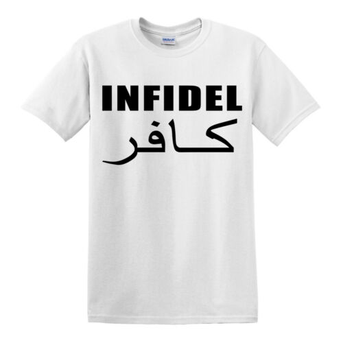 INFIDEL T SHIRT MILITARY ARMY FUNNY ENGLISH AFGHAN AFGHANISTAN PARA MARINES TOP