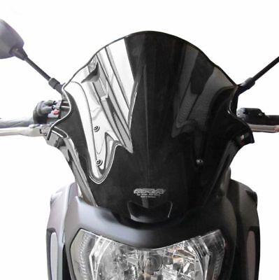 Motorrad Windschild Windschutzscheibe Verkleidungsscheibe f/ür MT-09 2014-2016 Schwarz Motorrad Windschutzscheibe