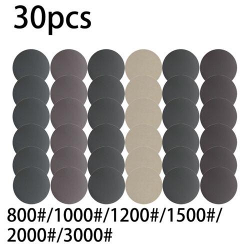 Wet//Dry 6inch Sandpaper Hook/&Loop Sanding Disc 800 1000 1200 1500//2000//3000Grit