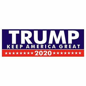 Donald Trump Bumper Sticker 2020 Keep America Great