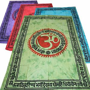 Couvre-lit-tissu-deco-OM-Gayatri-Mantra-Tapisserie-Decoration-murale-UNITAIRE