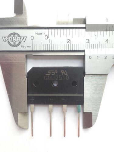 2x puentes rectificador gbj2510 1000v 25a