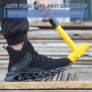 Hommes Femmes Sécurité Travail Chaussures Acier Orteil Bottes indestructible amorti Baskets