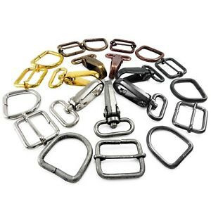 Bag-Clasps-Lobster-and-strap-adjuster-and-D-rings-20-25-30-mm-webbing