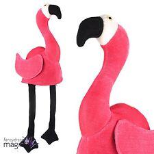 Novelty Flamingo Bird Animal Plush Fun Alice Book Week Fancy Dress Hat Accessory