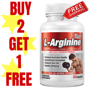 L-ARGININE-60-Caps-Nitric-Oxide-Strength-Pump-Pre-Workout-Buy-2-1-FREE