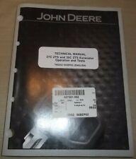 John Deere 27c 35c Zts Excavator Technical Service Shop Op Test Manual Tm2052