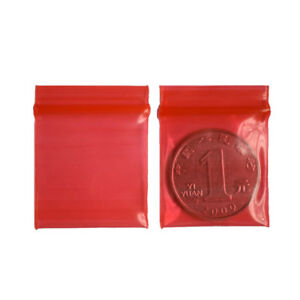 100x-3-4cm-Jewelry-coin-Ziplock-Zip-Zipped-Lock-Reclosable-Plastic-Poly-BagQ6Q