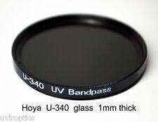 Hoya U-340 86mm x 1mm thick UV Pass Ultraviolet Dual Band IR Filter