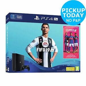 Sony PlayStation PS4 Pro 1TB Console with FIFA 19 Bundle - Black