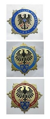 Car Badges Rallye Wiesbaden 1965/1968/1971 Car Grill Badge Emblem Logos