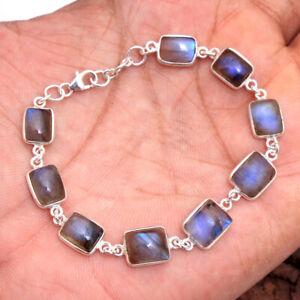 Natural-Labradorite-Gemstone-925-Sterling-Silver-Jewelry-StatementBracelet-7-75-034