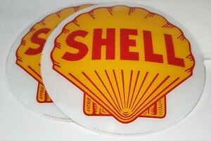 """SHELL 13.5/"""" GLASS FACE for GAS PUMP GLOBE"""