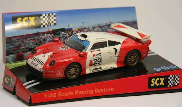 Qq 60060 SCX EXPORT SCALEXTRIC ESPAGNE PORSCHE 911 GT1 24h LE MANS   29 MOBIL