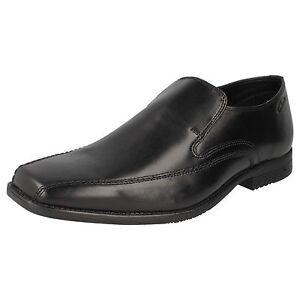 Clarks Baze Night Mens Black Leather Slip-on Shoe G Fitting 38B Kett
