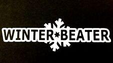 Winter Beater Sticker Funny JDM Drift Honda winterbeater snow lowered car window