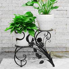 Item 2 Metal Outdoor Indoor Pot Plant Stand Garden Decor Flower Rack Wrought Iron Us