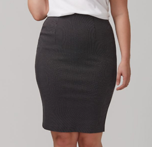 Details about Lane Bryant Dobby Print Pencil Skirt Women\'s Plus Size 28  Black/White 4x