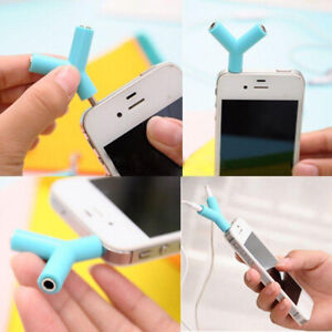 1-to-2-Double-Earphone-Headphone-Splitter-Cable-Cord-Adapter-Jack-Plug-3-5mm-Hot