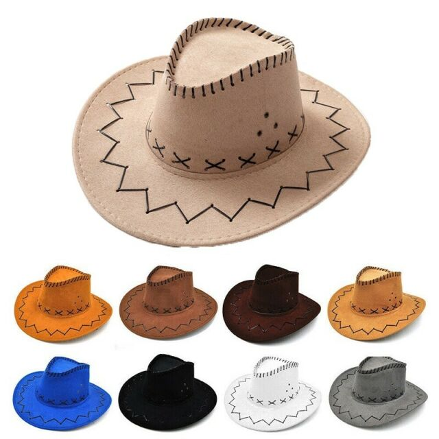 Deluxe Red Felt Cowboy Hat Party Cowboy Western Hat